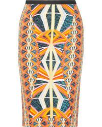H printed crepe skirt medium 22459