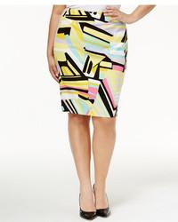 Plus size printed pencil skirt medium 3650023