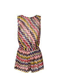 Missoni Open Back Zig Zag Knitted Playsuit