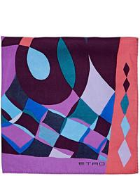 Etro Abstract Print Silk Twill Pocket Square