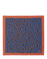 Ps By Paul Smith Blue Cheetah Pocket Square