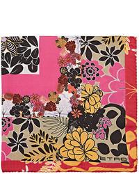 Etro Floral Print Silk Pocket Square