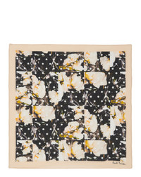 Paul Smith Multicolor Polka Dot And Orchid Pocket Square