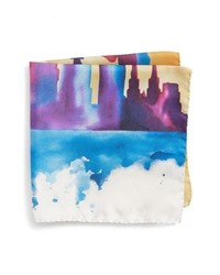 Eton New York Skyline Silk Pocket Square