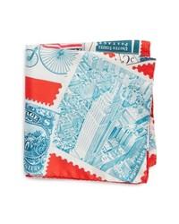 Eton New York Stamp Silk Pocket Square