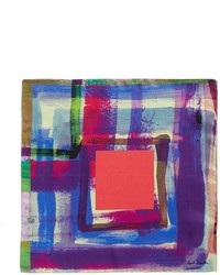 Paul Smith Paint Print Silk Pocket Square