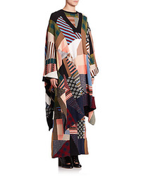 Chloé Patchwork Sweater Poncho