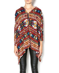 Red tribal poncho medium 348479