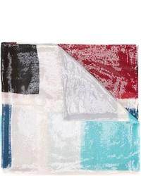 Armani Collezioni Sequinned Colour Block Scarf