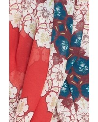St. John Collection Tile Print Silk Georgette Scarf