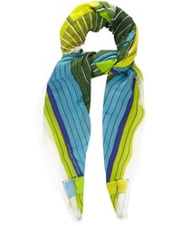 Mary Katrantzou Colour Wheel Print Fine Knit Scarf