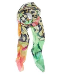 Echo Digital Jungle Print Scarf Multi One Size One Size