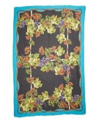 Dolce & Gabbana Grape Print Modal Cashmere Scarf