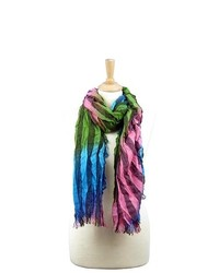 La77 multi colored striped scarf medium 716850