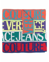 VERSACE JEANS COUTURE Logo Print Knitted Scarf