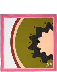 Loewe Pink Paulas Ibiza Kiwi Print Scarf