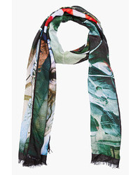 Red multicolor film strip photography scarf medium 10518