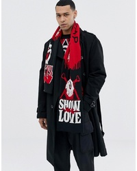 Cheap Monday Scarf In Red With Show Me Love Design