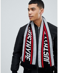 Hype Scarf With Logo In Grey