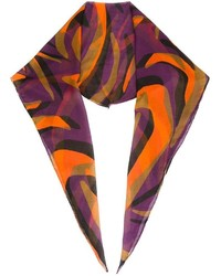 Versace Colour Block Print Scarf