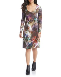 Karen Kane Abstract Print A Line Dress