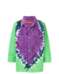 Multi colored Print Shirt Jacket