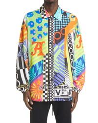 Versace Pop Temple Print Shirt Jacket