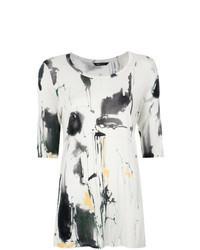 Multi colored Print Short Sleeve Blouse