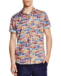 Multi colored Print Short Sleeve Shirt
