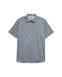 Ted Baker London Birsho Floral Print Short Sleeve Button Up Shirt