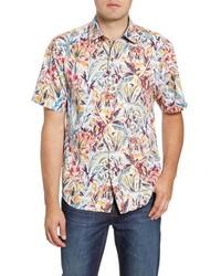 Tommy Bahama Bongo Palms Classic Fit Short Sleeve Button Up Shirt