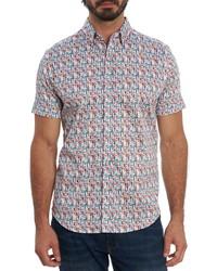 Robert Graham Bottoms Up Regular Fit Short Sleeve Button Up Shirt