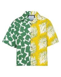 Prada Double Match Graphic Print Shirt