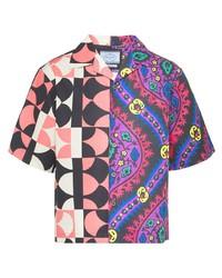 Prada Double Match Panelled Shirt