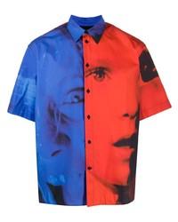 MSGM Faces Print Shirt