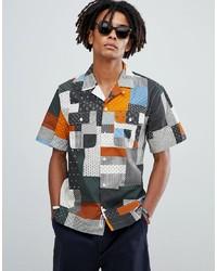 Wood Wood Jayden Patch Print Shirt