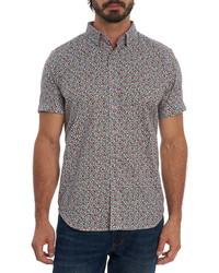 Robert Graham Ruffin Kaleidoscope Print Short Sleeve Button Up Shirt