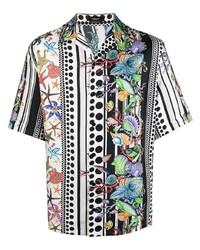 Versace Trsor Pinstripe Print Shirt