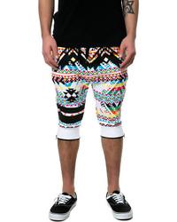 Multi colored Print Shorts