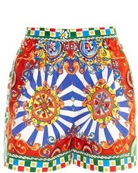 Dolce & Gabbana Carretto Print Cotton Shorts