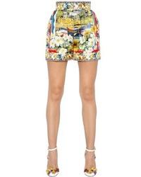Dolce & Gabbana Mondello Printed Silk Twill Shorts