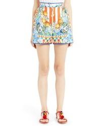 Dolce & Gabbana Dolcegabbana Carretto Print Silk Shorts
