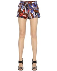 Marni Floral Printed Cotton Poplin Shorts