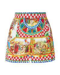 Dolce & Gabbana Printed Cotton Poplin Shorts