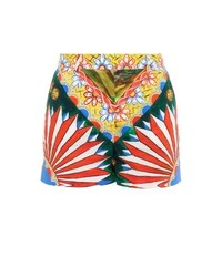 Dolce & Gabbana Sicilian Cart Print Cotton Shorts