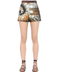 Valentino Tie Dye Printed Cotton Gabardine Shorts