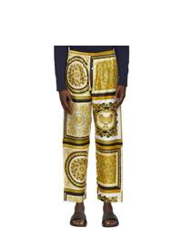 Versace Underwear Gold Barocco Mosaic Lounge Pants