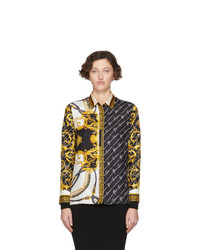 Versace Multicolor Barocco Signature Shirt