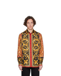 Versace Multicolor Silk Barocco Shirt