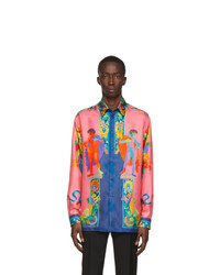 Versace Multicolor Silk Shirt